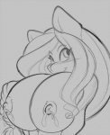 2015 anthro areola big_breasts blush breasts equine erect_nipples female horse lactating mammal mastergodai milk nipples pony smile solo   Rating: Questionable  Score: 5  User: Robinebra  Date: March 29, 2015