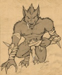 animal_genitalia anthro balls canine canine_penis claws clothed clothing dripping erection fangs half-dressed knot licking licking_lips loincloth loincloth_aside looking_at_viewer male mammal muscles penis precum saliva sean_o'hare solo tongue tongue_out topless video_games warcraft were werewolf worgen   Rating: Explicit  Score: 5  User: confused  Date: March 31, 2013