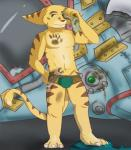 2015 anthro athletic barefoot bulge clank clothed clothing digital_media_(artwork) dirty fishnet front_view full-length_portrait fur lombax looking_at_viewer machine male mammal mechanic navel ratchet ratchet_and_clank signature solo standing tail_tuft tools topless tuft underwear video_games voyeur wrench zeff  Rating: Questionable Score: 4 User: Circeus Date: December 13, 2015