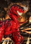 claws diablo dinosaur fire lava outside primal_rage scalie solo theropod warm_colors watermark   Rating: Safe  Score: 4  User: CatBox  Date: December 02, 2013