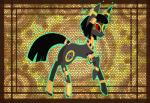 2014 ambiguous_gender black_eyes black_fur black_hair butt clothed clothing collar crossover cutie_mark eeveelution egyptian equine feral fur gold hair hi_res horse jewelry makeup mammal my_little_pony nintendo pokémon ponification pony raptor007 red_sclera smile solo umbreon video_games   Rating: Safe  Score: 2  User: GameManiac  Date: March 27, 2015