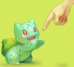 ambiguous_gender bulbasaur cute disembodied_hand fingers fuchsia_(artist) green_body nintendo pokémon red_eyes video_games  Rating: Safe Score: 11 User: Daniruu Date: August 10, 2012