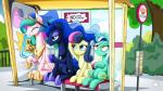 16:9 2018 amber_eyes annoyed bench blue_eyes blue_feathers bonbon_(mlp) bus_stop cosmic_hair crown cute cutie_mark earth_pony english_text equine eyebrows eyelashes eyes_closed feathered_wings feathers female feral friendship_is_magic green_hair grin group hair half-closed_eyes hi_res hooves horn horse long_hair looking_up lyra_heartstrings_(mlp) makeup mammal mascara multicolored_hair my_little_pony mysticalpha nude open_mouth open_smile outside plant pony princess_celestia_(mlp) princess_luna_(mlp) rainbow_hair royalty shadow shrub sibling sign signature silly sisters sitting sky smile teal_eyes teeth text tongue tree two_tone_hair unicorn wallpaper white_feathers winged_unicorn wingsRating: SafeScore: 1User: GlimGlamDate: June 22, 2018