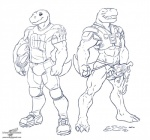 agumon anthro anthrofied bandai barazoku clothed clothing digimon football jockstrap male model_sheet monochrome nude solo underwear uniform wolfblade   Rating: Explicit  Score: 3  User: Circeus  Date: July 12, 2014