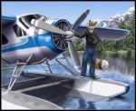 2012 aircraft airplane anthro boat canine fox male mammal outside propeller sabretoothed_ermine seaplane sky solo vehicle  Rating: Safe Score: 15 User: TonyLemur Date: November 20, 2012