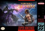 absurd_res armor bethesda biceps box_art clothed clothing dovahkiin dragon duo english_text feral gloves headgear helmet hi_res horn human logo male mammal manly melee_weapon mountain muscular nintendo nude official_art open_mouth outside scalie skyrim snow standing super_nintendo sword text the_elder_scrolls thunder triceps unknown_artist video_games warrior weapon wings youtube