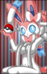 anthro anthrofied blue_eyes breasts eeveelution female fur mammal nintendo pink_fur pokéball pokémon ribbons sitting smile solo sylveon tagme verona7881 video_games  Rating: Safe Score: 11 User: Verona Date: April 26, 2016
