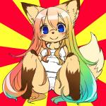 blonde_hair blue_eyes blush canine clothing female fox green_hair hair kemono kishibe long_hair mammal multicolored_hair red_hair smile swimsuit   Rating: Questionable  Score: 5  User: KemonoLover96  Date: May 05, 2015