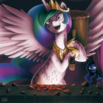 """2014 blue_eyes creepy curtains cutie_mark duo equine fangs female friendship_is_magic gold_(metal) hair hammer horn insane mammal messy multicolored_hair my_little_pony necklace princess_celestia_(mlp) princess_luna_(mlp) purple_eyes sibling sisters smile tears this_isn't_what_it_looks_like tools unicorn uotapo upset watermelon winged_unicorn wings  Rating: Safe Score: 46 User: 2DUK Date: July 16, 2014"""""""