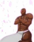 abs biceps clothed clothing crossed_arms diglett flower fundoshi half-dressed loincloth male muscles nintendo pecs plant pokémon solo standing topless underwear video_games   Rating: Safe  Score: 6  User: Ko-san  Date: December 02, 2013