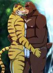 abs anthro bear bearlovestiger13 blush brown_fur clothed clothing duo feline frottage fundoshi fur grinding hi_res japanese_clothing juuichi_mikazuki kissing licking male male/male mammal morenatsu muscular muscular_male nipples pecs sex shirt simple_background striped_fur stripes tiger tongue tongue_out torahiko_(morenatsu) underwear  Rating: Explicit Score: 9 User: BrownMan Date: January 18, 2016