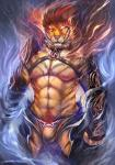 2014 abs anthro armor bulge cheetahpaws clothing feline front_view fur looking_at_viewer male mammal muscles nipples pecs pink_nose pubes solo tiger underwear   Rating: Questionable  Score: 12  User: Numeroth  Date: November 05, 2014