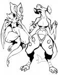 absurd_res anthro black_and_white breast_size_difference breasts claws duo featureless_breasts female garchomp hi_res jijis-waifus monochrome nintendo noivern open_mouth pokémon pokémorph pussy sharp_teeth small_breasts teeth toe_claws video_games wingsRating: ExplicitScore: 6User: slyroonDate: September 03, 2017