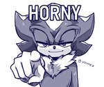 2020 6:5 absurd_res anthro clothing english_text eulipotyphlan gesture gloves greyscale half-closed_eyes handwear hedgehog hi_res looking_at_viewer male mammal meme monochrome narrowed_eyes pointing pointing_at_viewer shadow_the_hedgehog simple_background smile solo sonic_the_hedgehog_(series) text white_background why xlownez