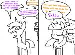 applejack_(mlp) comic dialogue duo english_text equine female feral friendship_is_magic hat horn mammal my_little_pony suggestive text the_weaver twilight_sparkle_(mlp) unicorn  Rating: Questionable Score: 10 User: Egekilde Date: July 21, 2015