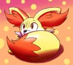 abstract_background ambiguous_gender fennekin feral inika-xeathis nintendo orange_eyes pokémon solo video_games  Rating: Safe Score: 7 User: UnsocialLizard Date: February 05, 2016