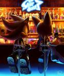 anthro bat beverage black_nose boots clothing duo female food footwear fur gloves hedgehog male mammal red_eyes rouge_the_bat shadow_the_hedgehog sitting sonic_(series) unknown_artist video_games white_fur wings  Rating: Safe Score: 10 User: Cαnε751 Date: December 07, 2015