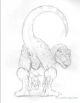 2004 allosaurus anus ass_up black_and_white butt dinosaur female feral looking_at_viewer looking_back monochrome presenting presenting_hindquarters presenting_pussy pussy raised_tail scalie sketch solo ssthisto_(artist) suggestive theropod   Rating: Explicit  Score: 8  User: Luminocity  Date: July 29, 2013