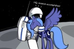 astronaut blue_hair cutie_mark duo equine eyes_closed female feral friendship_is_magic hair horn hug long_hair mammal miketheuser moon my_little_pony princess_luna_(mlp) space star winged_unicorn wings   Rating: Safe  Score: 18  User: Dogenzaka  Date: May 18, 2012