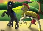 armor arthropod backlash91 bite changeling duo earth_pony equine female fight friendship_is_magic horse insect insectoid male mammal my_little_pony pony royal_guard_(mlp) sunset sword weapon   Rating: Safe  Score: 4  User: warlight91  Date: May 08, 2015