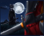 0r0ch1 2005 anthro canine clothing duel duo fox grass_field japanese_clothing katana male mammal moon mountain night outside samurai sky star starry_sky sword weapon   Rating: Safe  Score: 4  User: Ruski_Dog  Date: January 02, 2009
