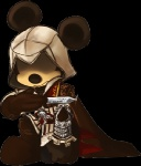 2012 alpha_channel anthro armor assassin assassin's_creed blade boots cape cici-chi clothing cowl crossover disney ezio_auditore male mickey_mouse mouse plain_background rodent solo transparent_background video_games weapon   Rating: Safe  Score: 6  User: Acolyte  Date: April 07, 2013