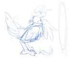2016 ambiguous_gender avian bell chocobo collar feathers feral final_fantasy magic mirror onigrift simple_background sketch solo square_enix transformation video_games  Rating: Safe Score: 2 User: TonyLemur Date: March 18, 2016