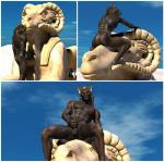 3d anthro anubian_jackal anubis balls butt canine cgi cum cumshot deity egyptian hair human_feet jackal long_hair male mammal masturbation muscles nude orgasm outside penis sculpture sky solo source_request sphinx statue wookiee_(artist)   Rating: Explicit  Score: 10  User: tyreldon  Date: May 27, 2014