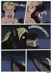 ! 2015 black_fur blonde_hair canine close-up comic eyes_closed fangs fur hair human male mammal night open_mouth outside rex_equinox roaring sharp_teeth solo teeth transformation were werewolf white_sclera wide_eyed yellow_eyes  Rating: Questionable Score: 1 User: jv Date: September 03, 2015