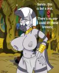2014 anthro areola big_breasts breasts clothed clothing digital_media_(artwork) english_text equine erect_nipples female friendship_is_magic half-dressed hi_res huge_breasts jrvanesbroek kaiuchiha15 mammal my_little_pony nipples solo text topless zebra zecora_(mlp)   Rating: Questionable  Score: 22  User: Robinebra  Date: December 27, 2014