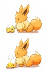 ambiguous_gender arthropod blue_eyes blush canine cute duo eevee insect joltik kinakomochi mammal nintendo paws pokémon press video_games  Rating: Safe Score: 13 User: N7 Date: June 08, 2015""