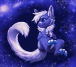 ambiguous_gender blue_claws blue_eyes blue_pawpads claws cute eddie falvie fur gatox muzz outside pawpads purple_fur purple_theme solo space star toe_claws  Rating: Safe Score: 12 User: slyroon Date: July 27, 2015