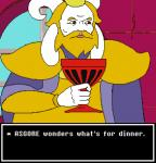 2016 asgore_dreemurr blonde_hair boss_monster caprine cd-i clothed clothing crossover cup english_text goat hair horn humanoid kenju king link:_the_faces_of_evil lol_comments male mammal meme nintendo parody philips royalty solo text the_legend_of_zelda undertale video_games window