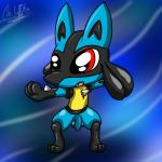 2015 balls canine chibi chikiota lucario male mammal nintendo nude open_mouth penis pokémon red_eyes solo spikes standing teeth uncut video_games   Rating: Explicit  Score: 1  User: chikiota  Date: April 07, 2015