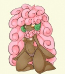amber_eyes anthro big_thighs breasts clothing female hair kneeling long_hair looking_at_viewer navel nintendo nipples panties personification pink_hair plain_background pokémon rainbowscreen smile solo underwear video_games whimsicott white_background   Rating: Questionable  Score: 13  User: Neitsuke  Date: January 01, 2013