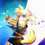 2016 abstract_background anthro belt black_nose blue_eyes blush canine cheek_tuft clothed clothing crossbow dog looking_at_viewer male mammal mash_(artist) panashe ranged_weapon scarf smile solo summon_night summon_night_4 tuft weapon young  Rating: Safe Score: 4 User: DirtyPrettyThings Date: February 13, 2016