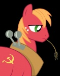 absurd_res alpha_channel big_macintosh_(mlp) blonde_hair communism equine feral freckles friendship_is_magic hair hammer_and_sickle hi_res horse male mammal my_little_pony politics pony russian solo soviet_union spritttrinker yoke  Rating: Safe Score: 3 User: Kholchev Date: June 13, 2012
