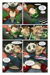 bear black_fur black_nose blue_eyes border breast_squish breasts brown_eyes brown_hair chair clothed clothing comic dialogue duo english_text feline female fur gillpanda green_glow hair hi_res human lion male mammal multicolored_fur open_mouth overweight panda pawpads sharp_teeth speech_bubble teeth text transformation two_tone_fur white_border white_fur  Rating: Questionable Score: 9 User: HotUnderTheCollar Date: January 21, 2016