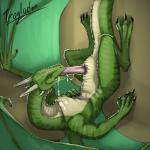 2015 absurd_res against_wall animal_genitalia autofellatio claws cum cum_in_mouth cum_in_own_mouth cum_inside cum_on_chest cum_string dragon erection feral genital_slit green_scales half-closed_eyes hi_res horn lying male masturbation oral orgasm penis reptile scalie sirtroglodon slit smile solo tongue tongue_out wings yellow_eyes   Rating: Explicit  Score: 29  User: SirTroglodon  Date: February 13, 2015