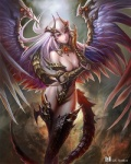 armor chen_yan claws cleavage clothed clothing dragon female hair hybrid jewelry looking_at_viewer monster monster_girl pink_eyes reign_of_dragons skimpy standing unconvincing_armor wings   Rating: Safe  Score: 15  User: SexyTea  Date: February 21, 2014