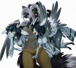 2013 aeris angry antlers artemis canine cervine clothed clothing female fox_xd horn male mammal nataly-b nipple_piercing nipples perython piercing plain_background siamese_twins vira_and_viana white_background wings   Rating: Questionable  Score: 5  User: palesnake  Date: April 20, 2014