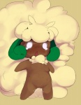 dagasi female humanoid nintendo open_mouth pokémon pussy pussy_juice solo sweat video_games whimsicott wide_eyed