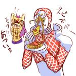1_eye 5_fingers armor big_eyes diavolo duo eating food front_view green_eyes hair holding_food holding_object human humanoid jojo's_bizarre_adventure kamiura_(artist) king_crimson_(jjba) male mammal multi_face not_furry open_mouth pain pasta pizza plate purple_hair simple_background spaghetti standing stand_(jjba) text translation_request what white_backgroundRating: SafeScore: 21User: ROTHYDate: February 09, 2015