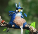 abstract_background ambiguous_gender arthropod avian big_eyes bird black_eyes blue_feathers branch feathers feral hybrid insect ladybug lagomorph leaf looking_at_viewer mammal on_branch open_mouth outside rabbit simple_background tan_feathers veramundis what what_has_science_done white_feathers  Rating: Safe Score: 12 User: corgi_bread Date: August 06, 2013