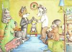 bear book canine cervine clock cub cute dinosaur feline fox hand_holding male mammal moose panda panda_paco raccoon scalie smile tiger toy wedding young   Rating: Safe  Score: 6  User: slyroon  Date: February 23, 2014