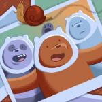 adventure_time bear cartoon_network gastropod grizzly_(character) grizzly_bear group hi_res ice_bear male mammal panda panda_(character) polar_bear snail unknown_artist we_bare_bears  Rating: Safe Score: 0 User: slyroon Date: December 26, 2015