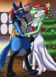 2010 abs anthro black_fur blue_fur breasts candy christmas duo eyewear female fur gardevoir glasses green_hair green_skin hair hat hi_res holidays inside lucario male mistletoe mykiio nintendo open_mouth plant pokémon red_eyes red_skin star teeth tongue tree video_games white_skin yellow_fur   Rating: Safe  Score: 0  User: GameManiac  Date: March 30, 2015