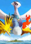 2013 ambiguous_gender articuno avian bird cuteskitty feral fire group legendary_pokémon lugia moltres nintendo outside pokémon sky video_games water watermark zapdos  Rating: Safe Score: 0 User: DeltaFlame Date: February 15, 2015