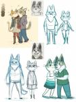 <3 canine cat clothed clothing corgi dog doug_(here's_the_plan) duo feline female fernanda_frick here's_the_plan kat_(here's_the_plan) male male/female mammal nuzzling official_art romantic romantic_couple simple_background
