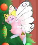 2016 abdominal_bulge alternate_color arthropod bow butterfly butterfree buttershe camychan christmas christmas_tree dildo fangs female feral hi_res holidays improvised_sex_toy insect insect_wings masturbation nintendo open_mouth ornament penetration pink_butterfree pokémon pussy sex_toy solo tongue tongue_out toying_self tree vaginal vaginal_masturbation vaginal_penetration video_games wings